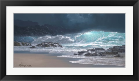 Framed Sweeping Ocean Tide Print