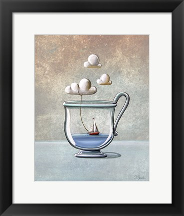 Framed Steam Boat Print