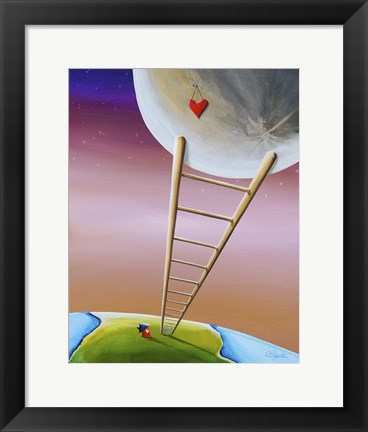 Framed Destination Moon Print