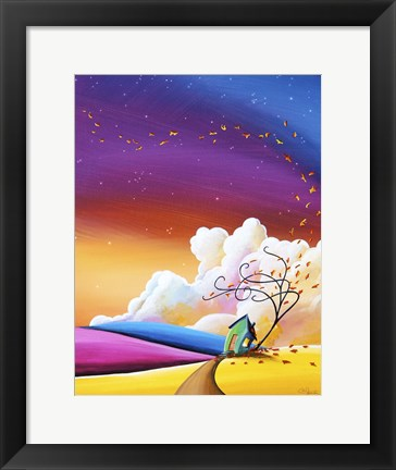 Framed Autumn Skies III Print