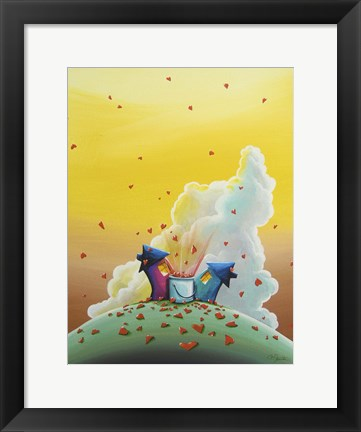 Framed Let Love Rain Print