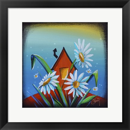 Framed Bashful House II Print