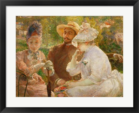 Framed On The Terrace In Sevres With The Painter Henri Fantin-Latour Print