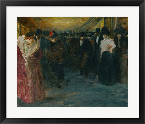 Framed Promenoir At The Music-Hall, c. 1890 Print
