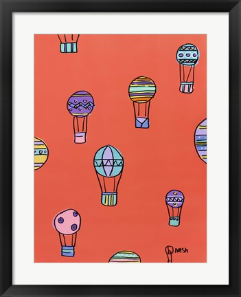 Framed Balloons - Red Print