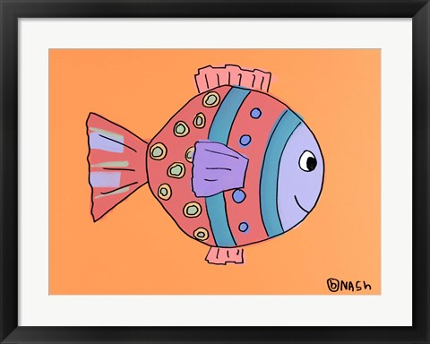 Framed Rose Fish Print