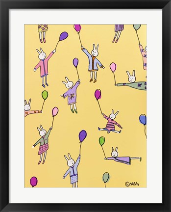 Framed Lala Floats - Yellow Print