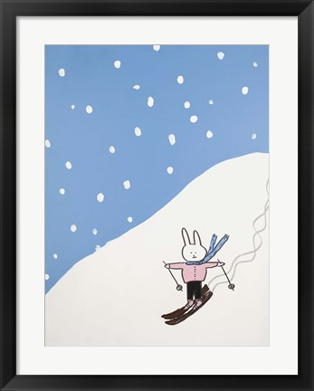 Framed Lala on the Slopes II Print
