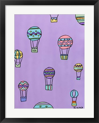 Framed Balloons - Purple Print