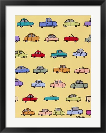 Framed Cars - Yellow Print