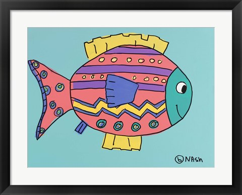 Framed Pink Fish Print