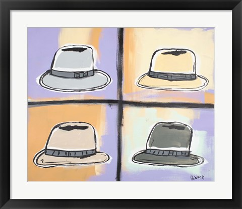 Framed Four Hats Print