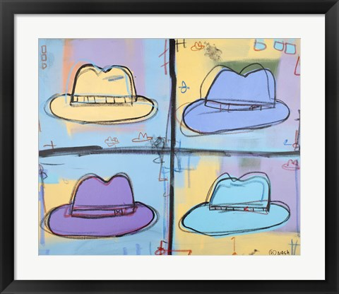 Framed Hats Print