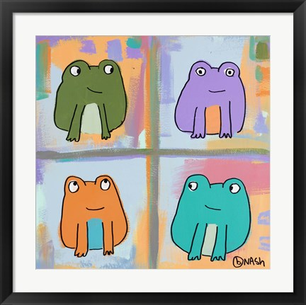 Framed Frogs Print
