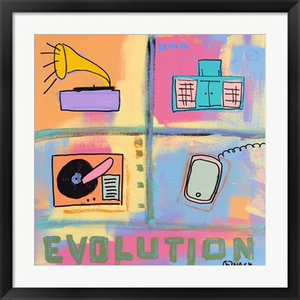 Framed Evolution - Stereo Print