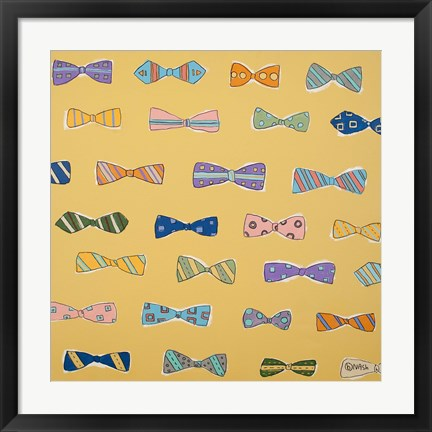 Framed Bowties Yellow Print