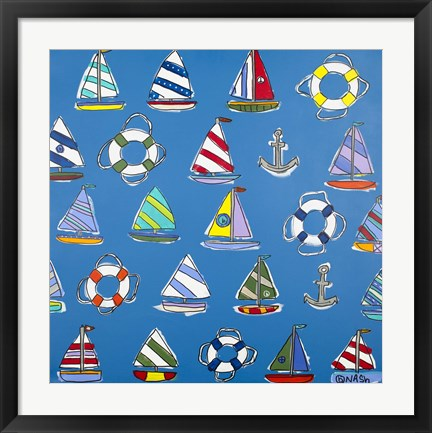 Framed Smooth Sailing Print