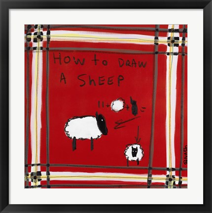 Framed How to Draw A Sheep Print