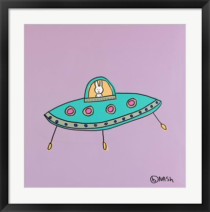 Framed UFO Lala - Purple Print