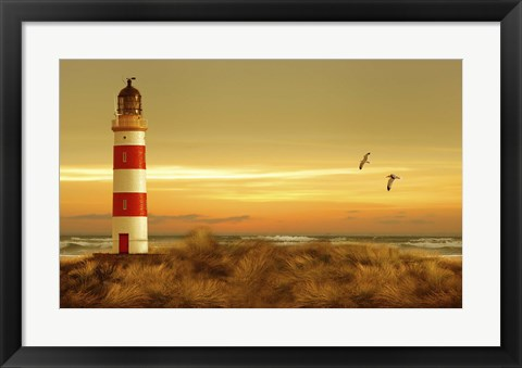 Framed Pacific Sunset 5 Print