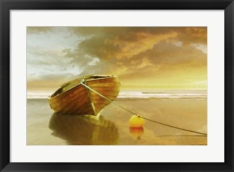 Framed Solitude of the Sea II Print