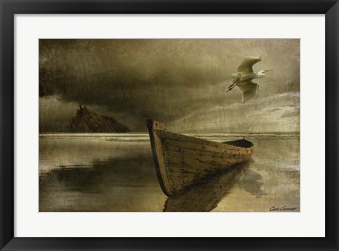 Framed Solitude of the Sea 3B Print