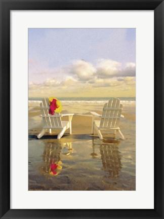 Framed Chairs on the Beach Print