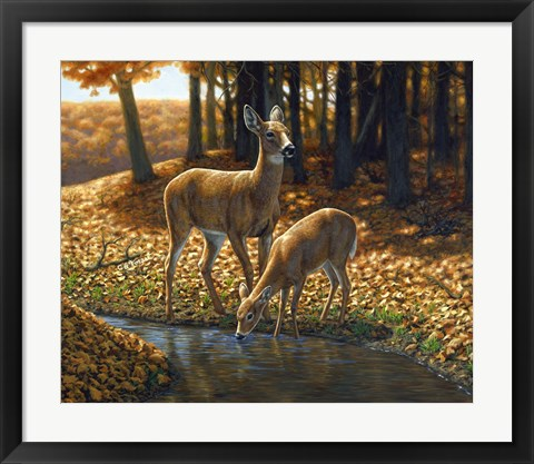 Framed Autumn Innocence I Print