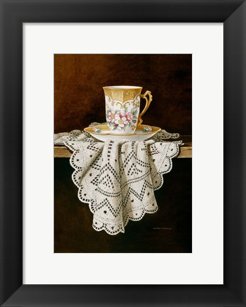Framed Demi Cup & Lace Cropped Print
