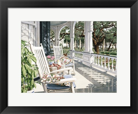 Framed View From the Veranda Print