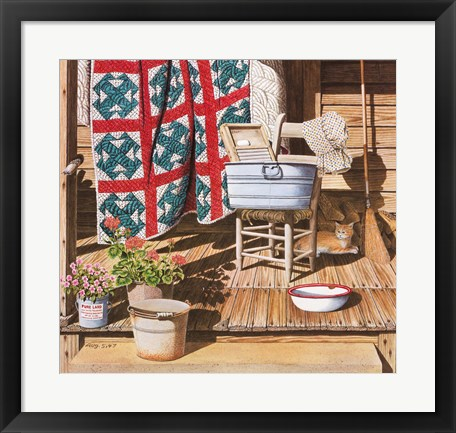 Framed Miss Jane's Washday Print