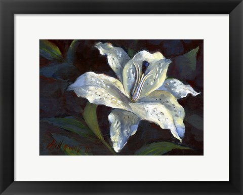 Framed White Lily Print