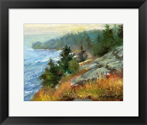 Framed White Head, Monhegan Island, Maine Print