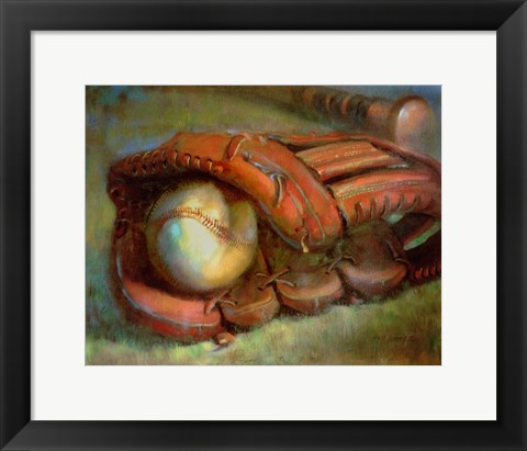 Framed American Dream - Baseball and Glove 9 Print