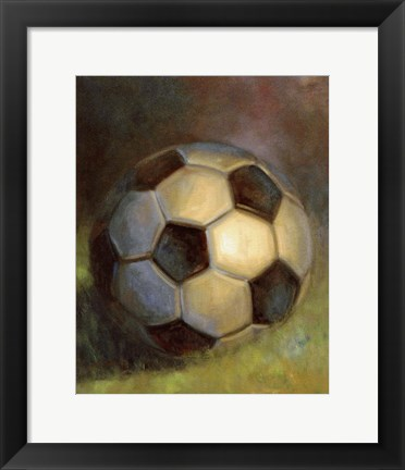 Framed Soccer Ball Print