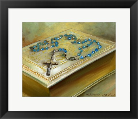 Framed Bible with Cross Print