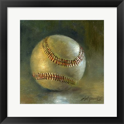 Framed Baseball 8 Print