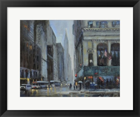 Framed Chrysler Building, Manhattan Print