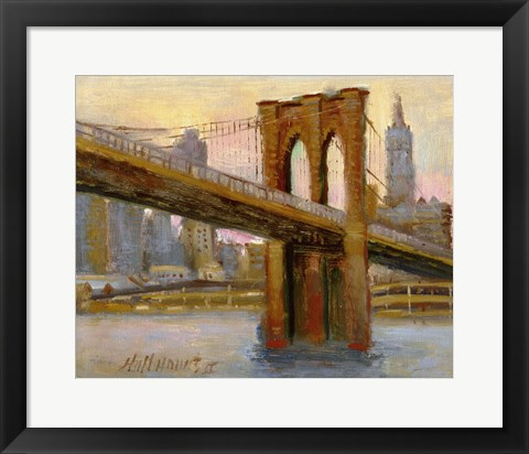 Framed Brooklyn Bridge 4 Print