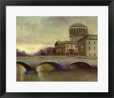 Framed Liffey River, Ireland Print