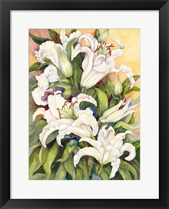 Framed Lilies Basking in the Sun Print