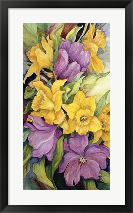Framed Tulips And Daffodils Print