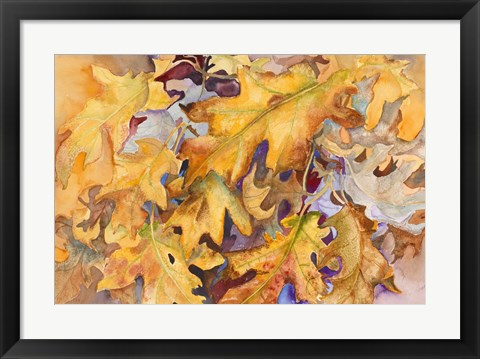 Framed Windblown Leaves Print