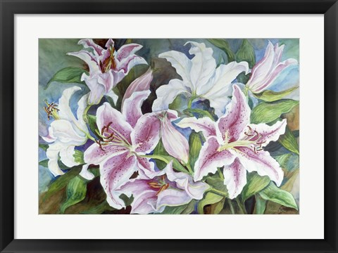 Framed Lilies Of The Field Print