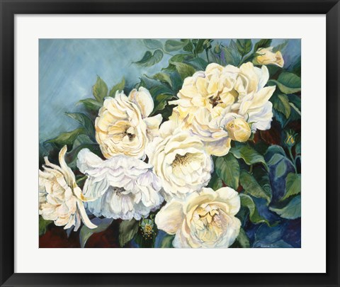Framed Golden Roses Print