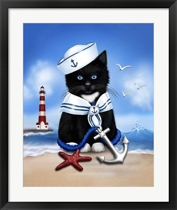 Framed Sailor Boy Print