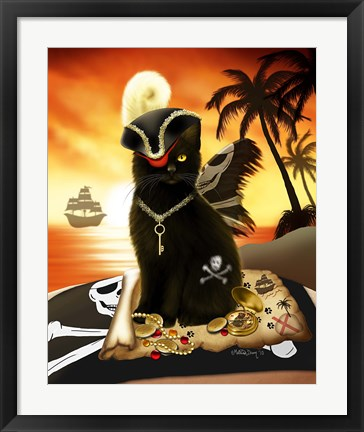 Framed Shiver Meow Timbers Print