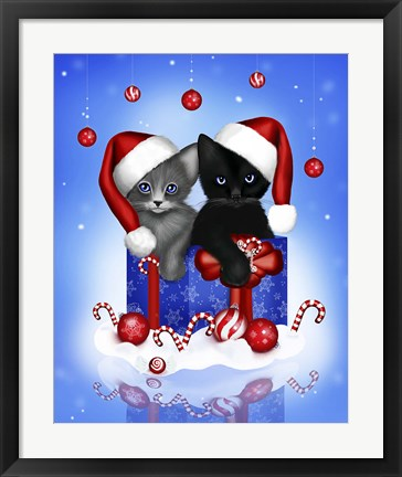 Framed Candy Cane Festivities Print