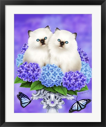 Framed Cats of Spring Print