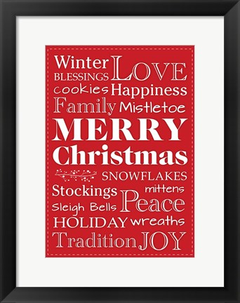Framed Christmas Love Print